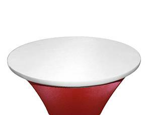 Стрейч Колпак на стол 80*110 круглый из плотной ткани Спандекс, фото 2
