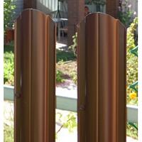 Трапециевидный штакетник 113 мм двухсторонний темно серый глянец , дуб длинна 50 см.
