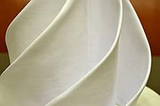Салфетка 45х45 Белая Р-195 для Сервировки Хлопок+ПЭ Евроуголок, фото 2