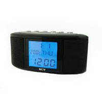 Радио-часы с будильником VST-783, портативная акустика,Жидкокристаллический монохромный дисплей