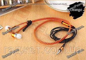 Стильный тонкий MP3 MP4 плеер оранжевого цвета + наушники молния., фото 3