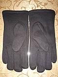 Трикотаж с махра перчатки мужские Anna-мода только оптом, фото 2