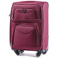 Большой тканевый чемодан Wings 6802 на 4 колесах бордовый