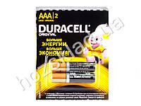 Батарейка алкалиновая Duracell, 1.5V, AAA, LR03 (цена за блистер 2шт)