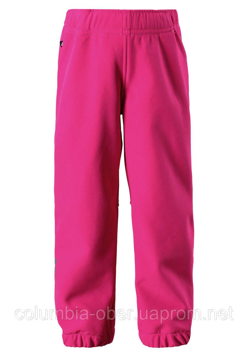 Демисезонные брюки для девочки Softshell Reima OIKOTIE 522235-4620. Размер 92-110.