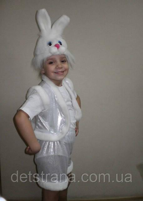 Детский Карнавальный костюм Заяц белый