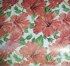 Бумага подарочная 70*100 см / Красные цветы