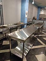 Cтол для кухни ресторана и кафе из нержавеющей стали 1400/600/850 мм