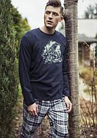 Пижама KEY MNS-753 B8, 100 % хлопок, Польша мужские пижамы, пижама, L; M; XL; , L темно синий, темно синий