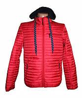 Мужская стеганая куртка на осень весну, красная XL
