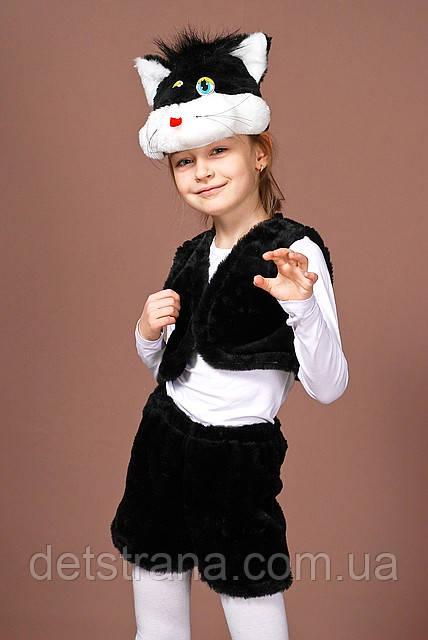 Детский Карнавальный костюм Кот черный