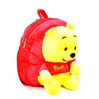 Мягкий детский рюкзак Винни Пух n00051 красный