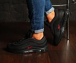 "Мужские кроссовки в стиле Nike Air Max 97 ""Black/Red"" Рефлективные, фото 3"