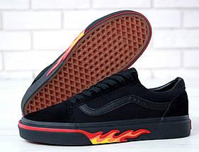 Кеды Vans Old Skool Black Flames (унисекс), vans old school, ванс олд скул, фото 3