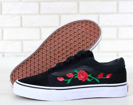 Женские кеды Vans Old Skool Roses, vans old school, ванс олд скул, фото 2