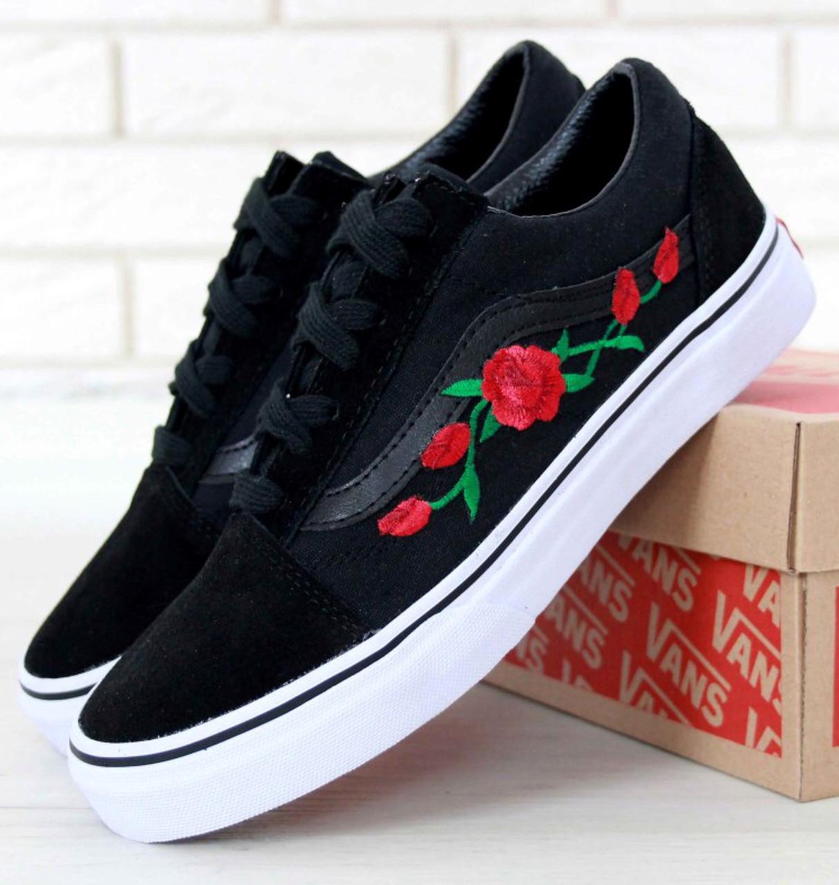 Кеды Vans Old Skool Roses (унисекс), vans old school, ванс олд скул