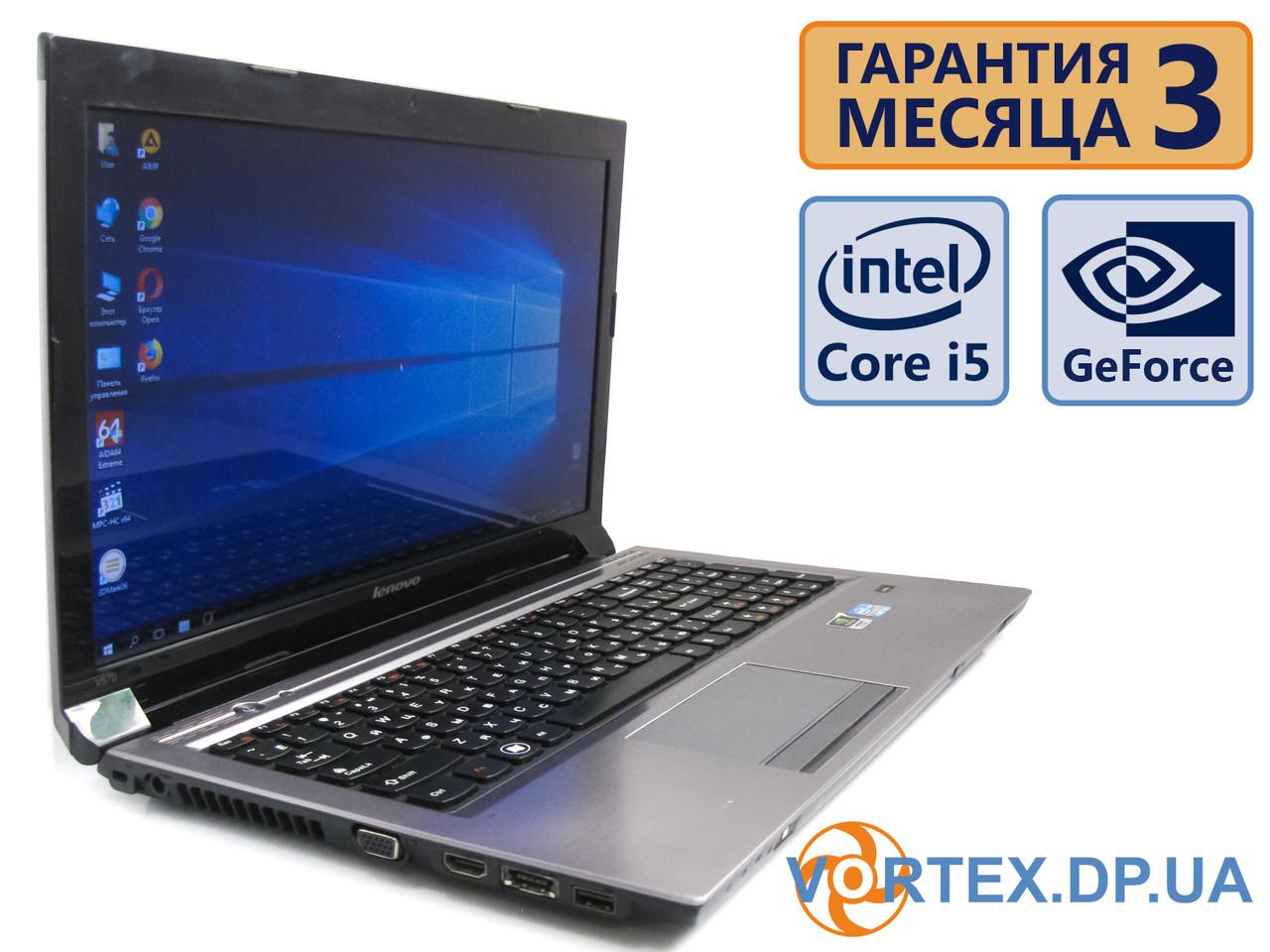Ноутбук Lenovo V570 15.6 (1366x768) / Intel Core i5-2430M (2x2.4GHz) /