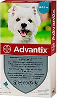 Advantix Bayer для собак 4-10 кг, 1 піпетка