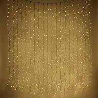 Светодиодная гирлянда дождь, 2х3 м, 600 LED, черный ПВХ