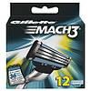 Gillette Mach 3 сменные картриджи к бритве (12 шт)