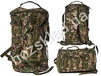 Сумка-рюкзак для рыбалки и охоты 27х27х44см расцветка коричнево-зеленая защитная