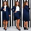 Облегающее платье с кардиганом больших размеров 48+    / 5 цветов  арт 6673-64, фото 3