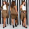 Облегающее платье с кардиганом больших размеров 48+    / 5 цветов  арт 6673-64, фото 4