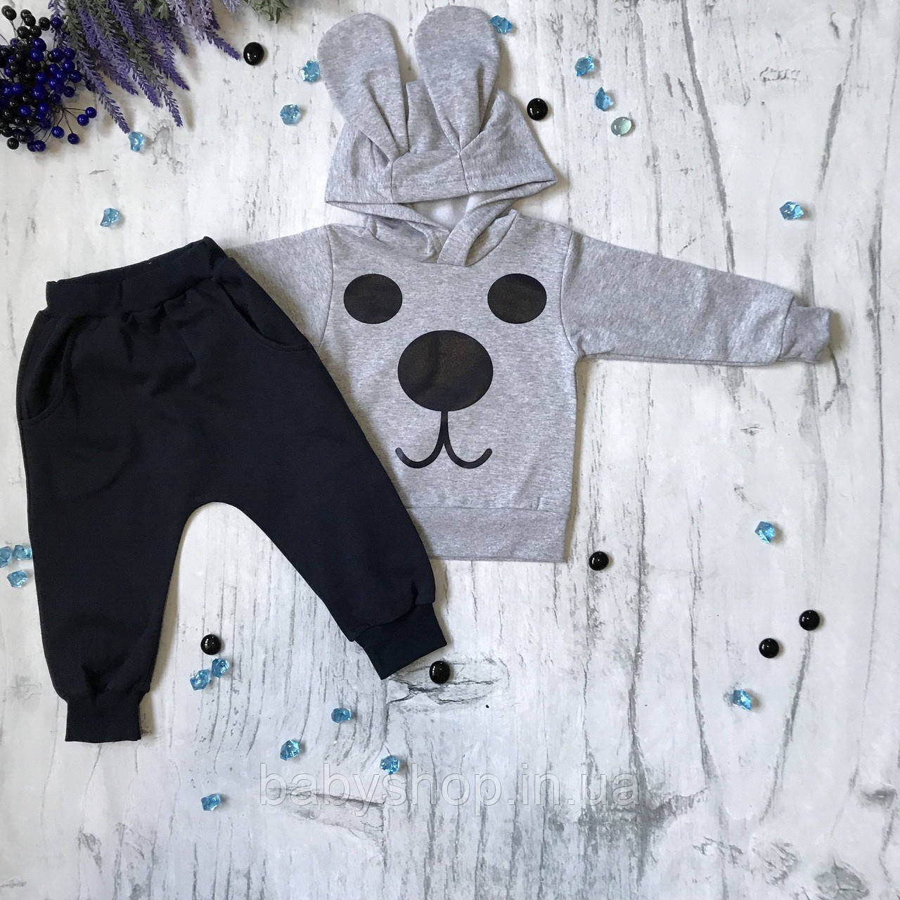 Теплый костюм на мальчика 1/12/б11. Размер 80 см ( 1 год)
