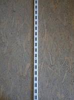 Рейка 1900мм перфорована для настінних металевих стелажів