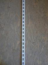 Рейка 1450мм перфорована для настінних металевих стелажів