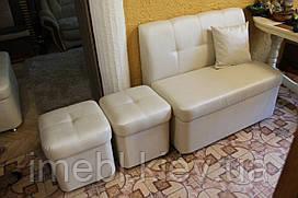 М'які меблі на кухню (Лавка і два пуфи)