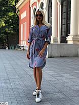 Платье рубашка хлопок с вышивкой 42-46, фото 3