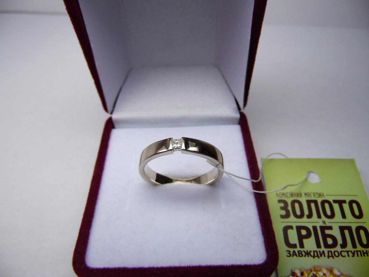 Обручальное золотое кольцо с бриллиантом, Размер 19