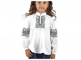 Заготівля вишиванки дитячої сорочки та блузи для дівчаток вишивки бісером Бисерок «Радість» (Д-181)