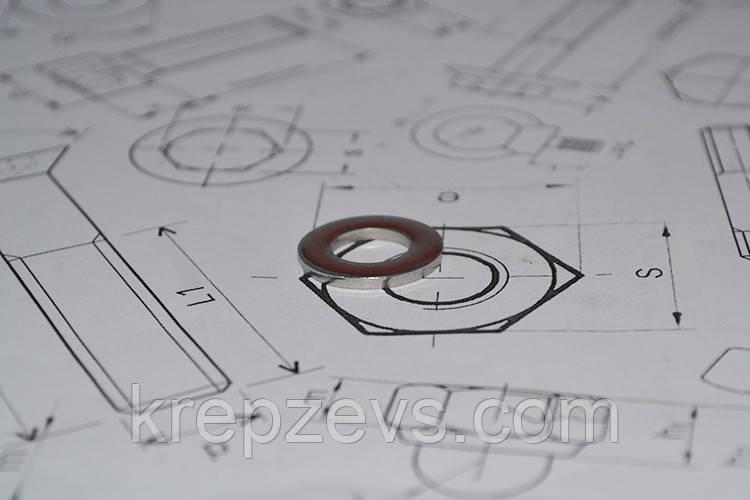 Шайба Ф27 плоская ГОСТ 11371-78 из стали А4