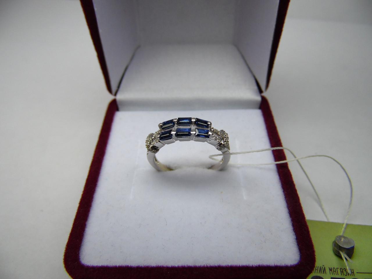 Женское золотое кольцо с бриллиантами, Размер 15.7