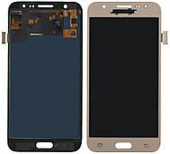 Дисплей + сенсор Samsung J500H Galaxy J5 Золотий LCD TFT, з регулюванням яскравості