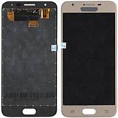 Дисплей + сенсор Samsung G570 J5 Prime Золотистий , з регулюванням яскравості