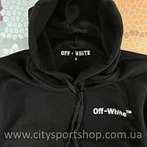 Толстовка Off - White 3D • Худи черное • Ориг бирка, фото 2