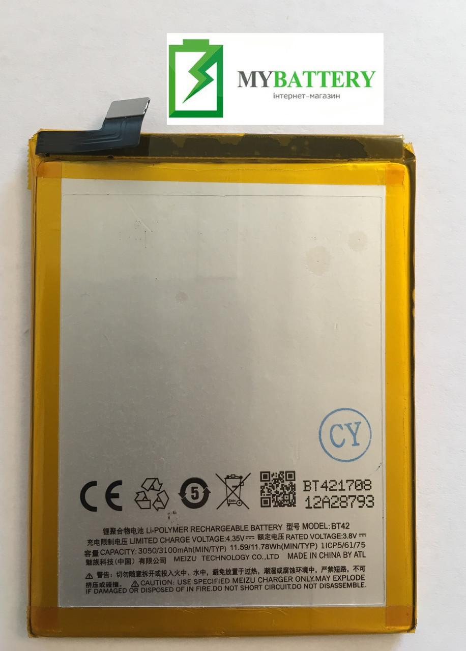 Оригинальный аккумулятор АКБ (Батарея) BT42 для Meizu M1 Note Li-ion 3.8V 3100mAh