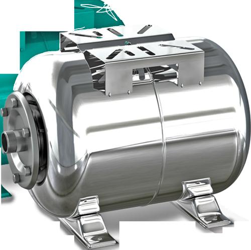 Расширительный бак CRISTAL 24 л (гидроаккумулятор) горизонтальный нержавейка