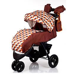 Коляска прогулочная BabyHit Voyage Air - Brown orange
