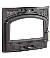 """Дверцы для камина печи барбекю """"Koza1"""" 450х500мм. (Система """"Чистое стекло"""") Печная дверца со стеклом"""
