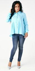 """Классическая женская рубашка """"Кира"""" размер 48"""