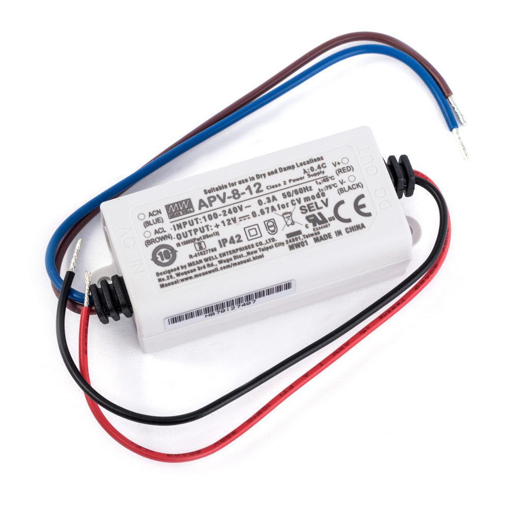 Led драйвер APV- 8-12  / 220AC-12S-60.0x30.0x23.5-LED DRIVER. Драйвер светодиода MEANWELL