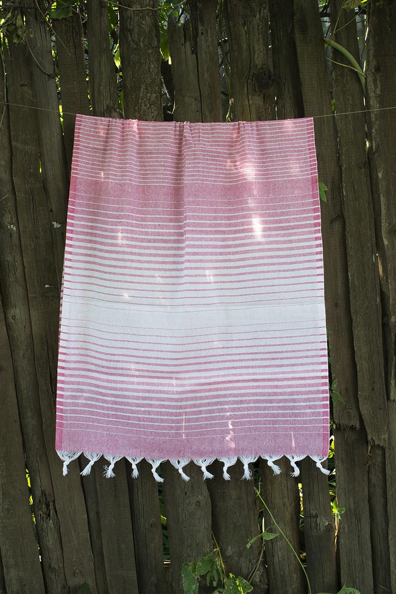 Полотенце Lotus Pestemal - Pink 16 75*150 Micro stipe