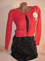 Копія Болеро женское гипюр стразы, красный S/M (42-46), фото 1