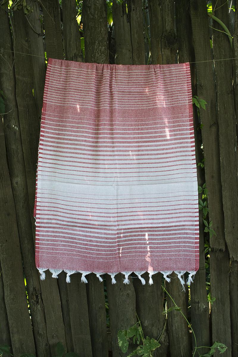 Рушник Lotus Pestemal - Red 02 75*150 Micro stripe