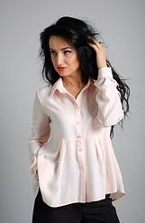 """Классическая женская рубашка """"Карина"""" размеры 46,48"""