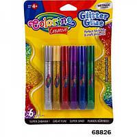 Клей с блестками Metallic 6 цветов Colorino